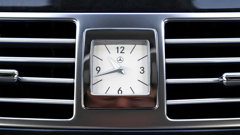 Free Photo Mercedes Display Clock Luxury Interior Car Design Max Pixel