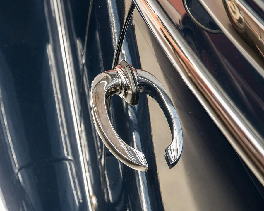 Door Handle, Auto, Oldtimer, Mercedes, Automotive