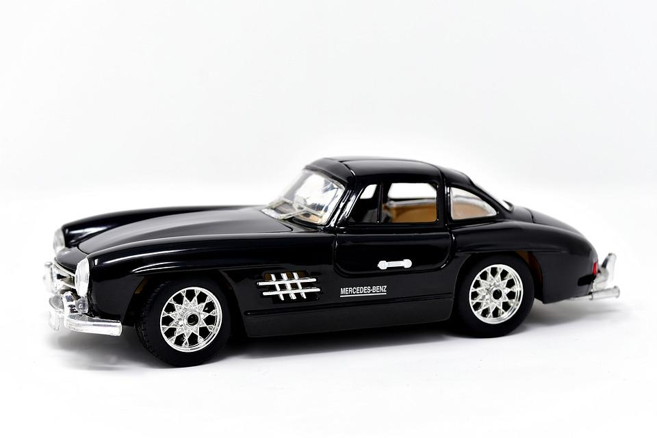 Model Car, Oldtimer, Mercedes, 300sl, Gullwing