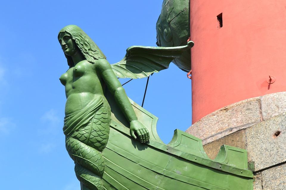 Mermaid, St Petersburg, Russia, Rostrum, Rostral Column