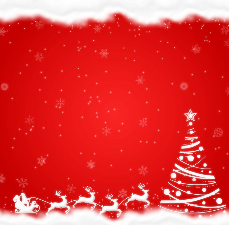Merry Christmas, Snow, Tree, Congratulation