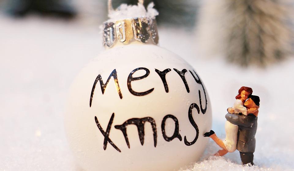 Christmas Bauble, Christmas Ornament, Merry Xmas, Snow