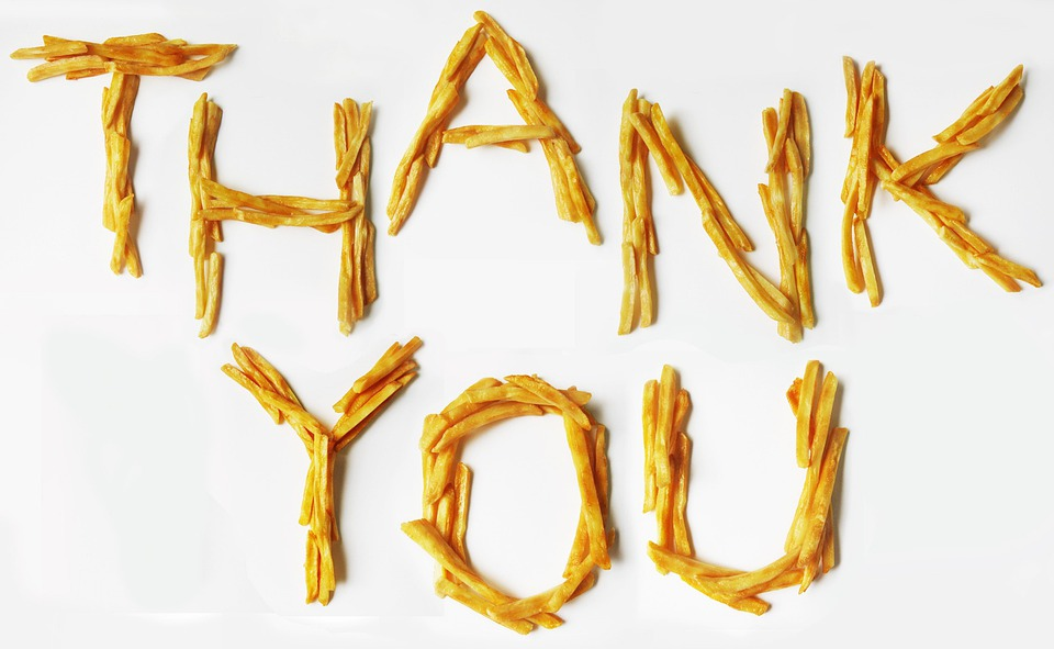 French, Fries, Potato, Thank, You, Message, Fried