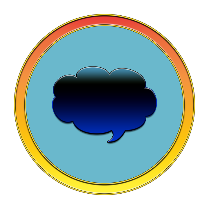 Thought Bubble, Message, Icon, Button, Media