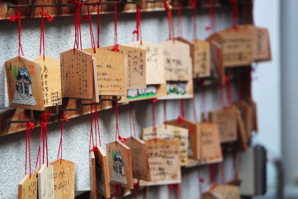 Wood, Messages, Japanese Shrine, Wooden Plates, Osaka