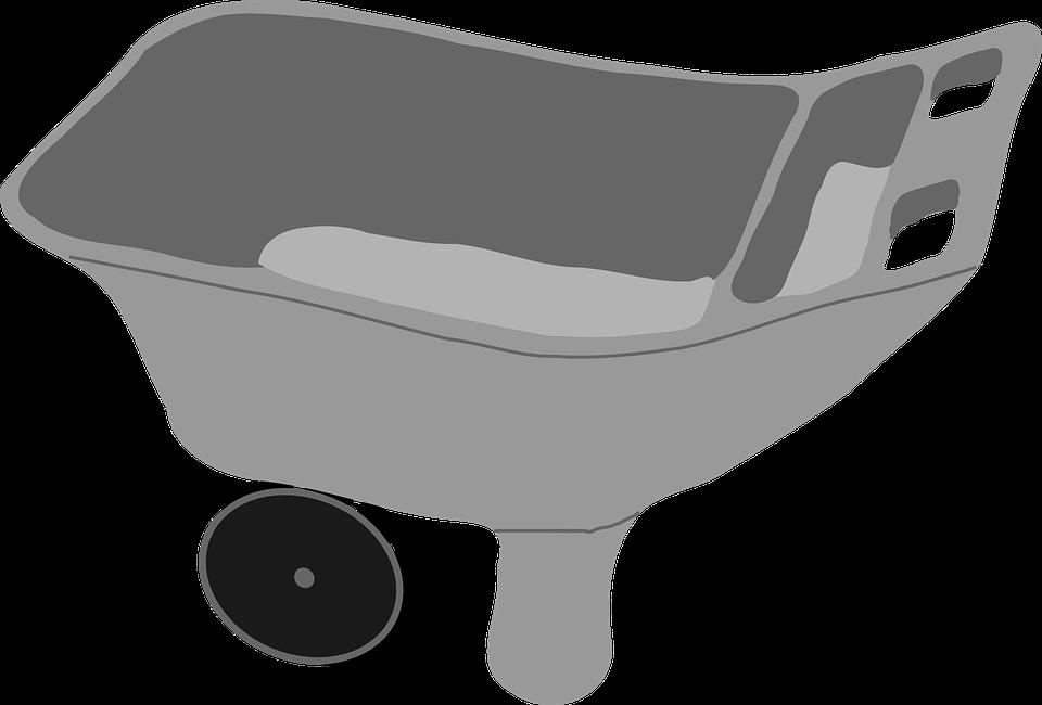 Barrow, Cart, Pushcart, Wheelbarrow, Metal