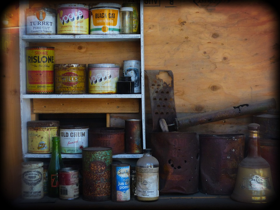 Metal Cans, Grocery, Holga, Deadman, Ranch, Ancient