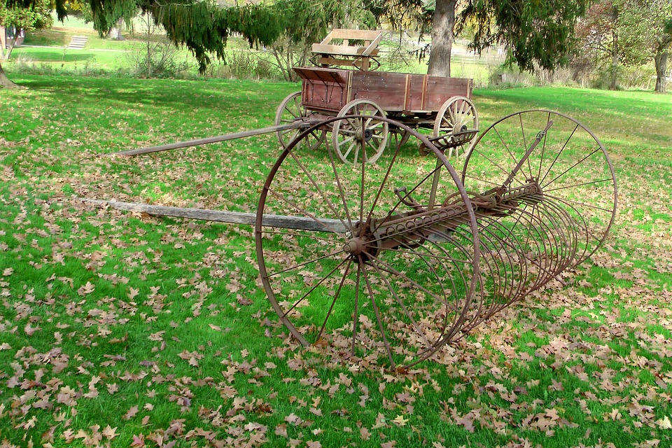 Equipment, Tool, Farm, Metal, Agriculture, Carriage