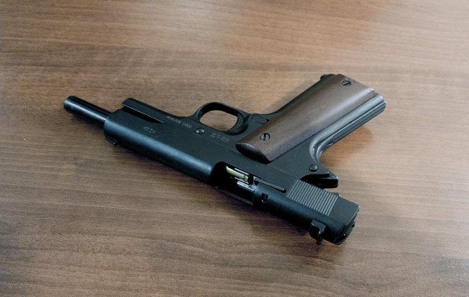 Colt 1911, Weapon, Colt, Gun, Black, Metal, Safety