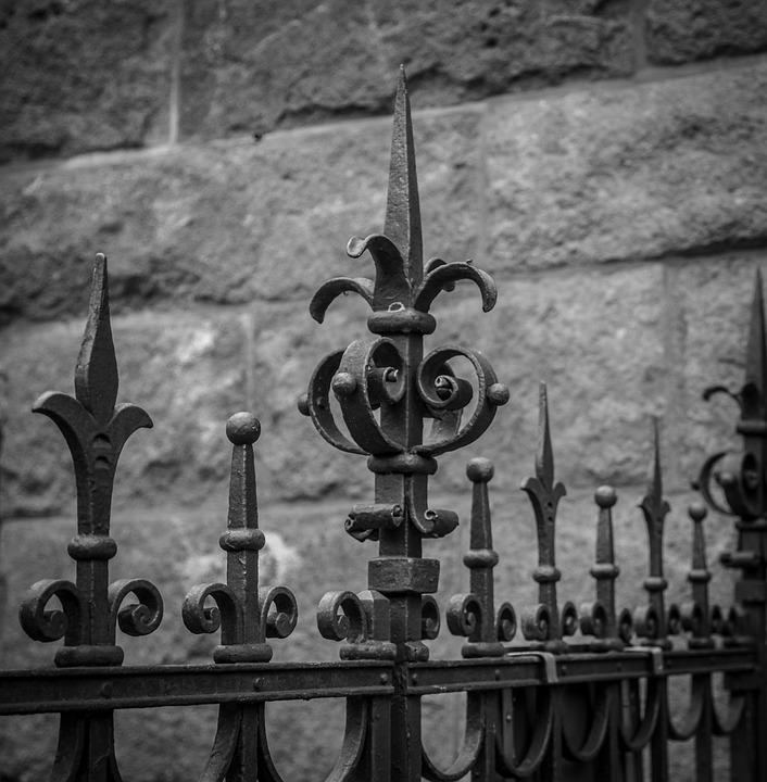 Metal Construction, Wrought Iron, Ornament, Metal Fence
