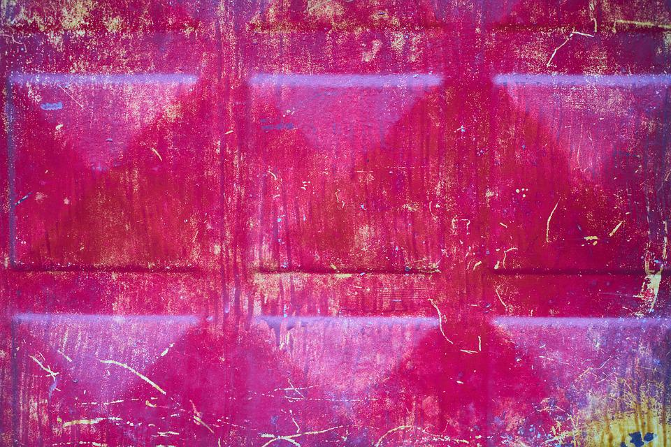 Metal, Red, Pink, Decor, Paint, Old, Dirty, Shiny