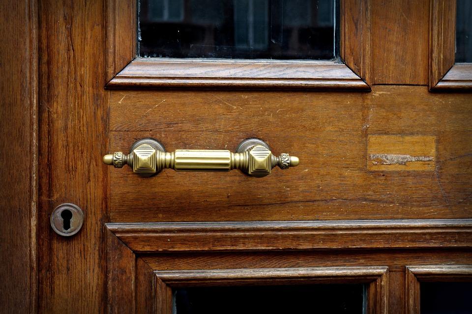 Door Handle, Brass, Metal, Handle, Input, Goal, Door