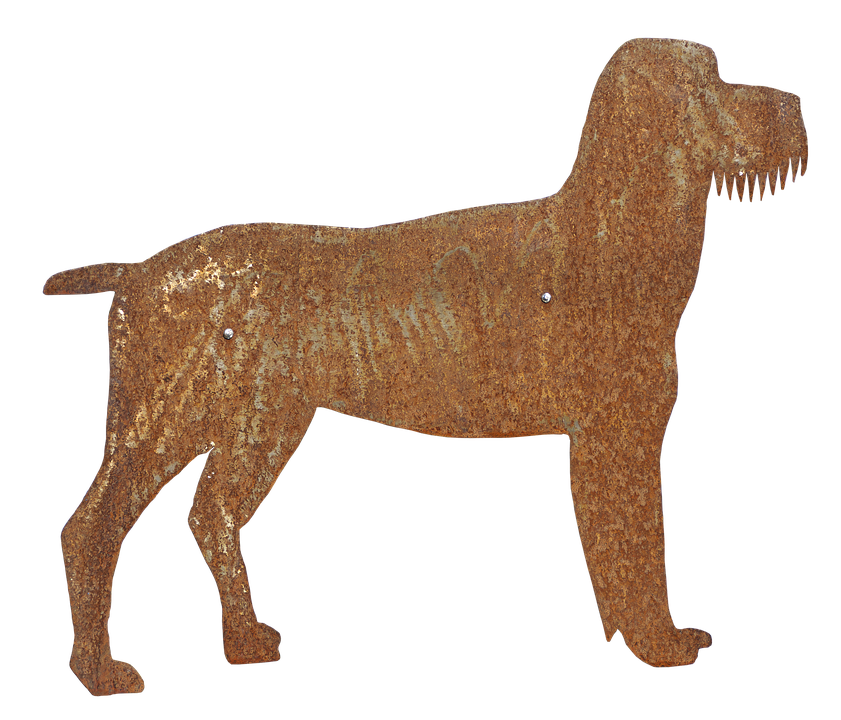 Dog, Schnauzer, Metal Figure, Figure, Decoration, Deco