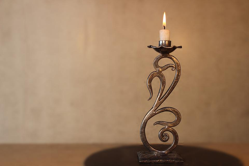 Candlestick, Forging, Metal, Forge