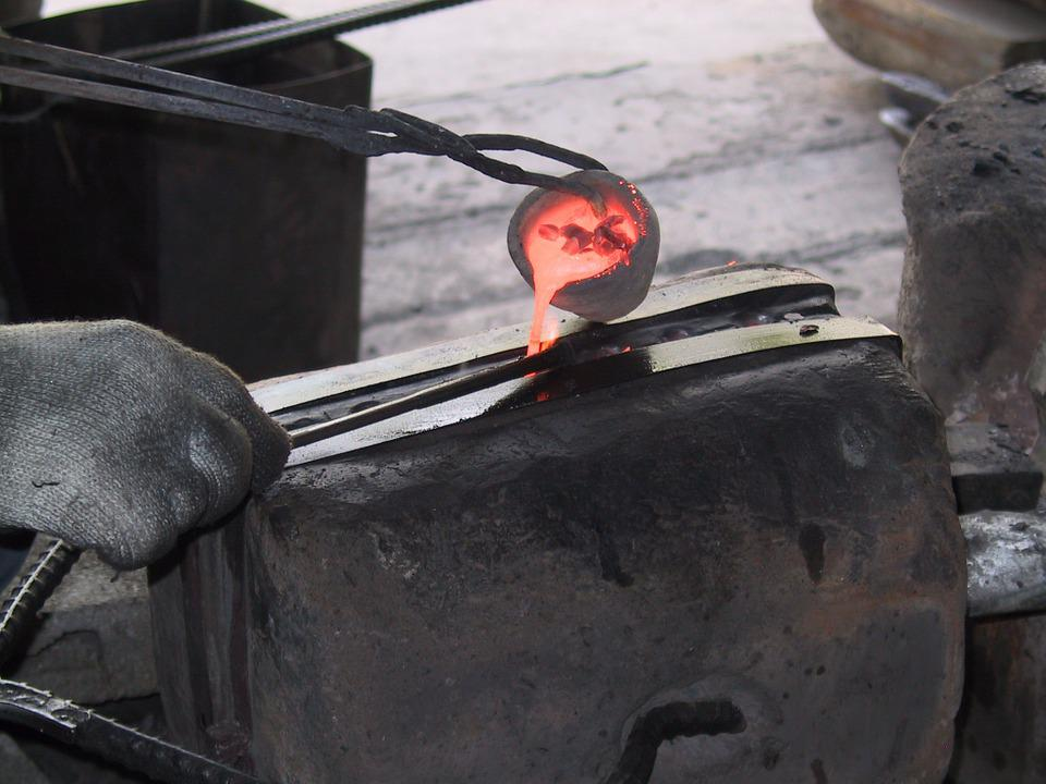 Metal, Molten, Blacksmith, Mold, Glowing, Hot