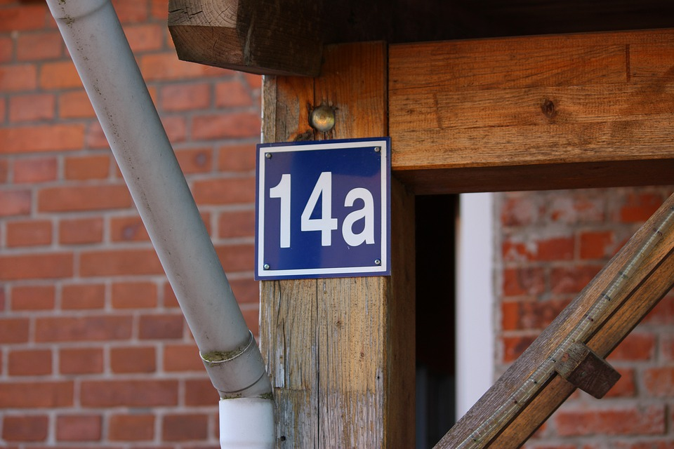 House Number, Number, Metal, House Entrance, Home