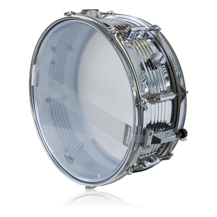 Tornado Drum, Remo Ux Drum Head, Isolated, White, Metal