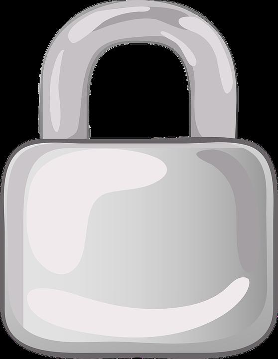 Padlock, Lock, Metal, Silver, Metallic, Security