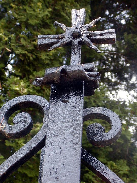 Metal, Cross, Ornament, Sign, Ornamental, Gate