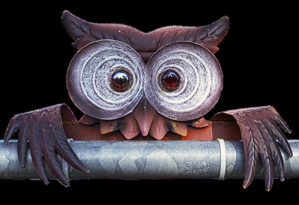 Owl, Metal Figure, Art Object, Figure, Metal, Deco