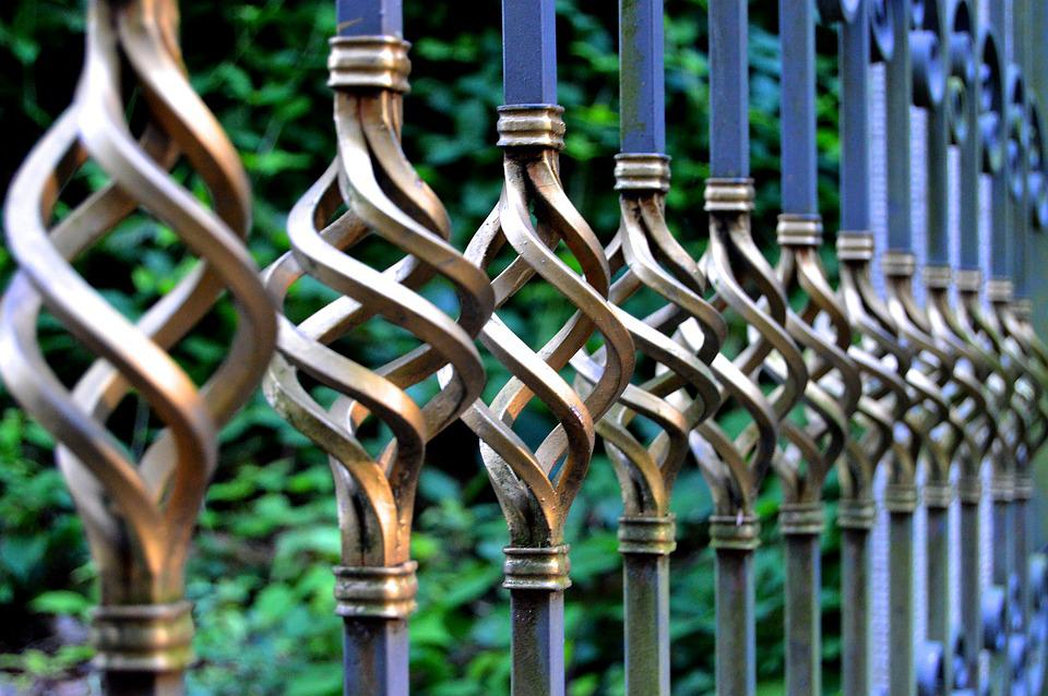 Iron Gate, Wrought Iron, Metal Gate, Metal Railings