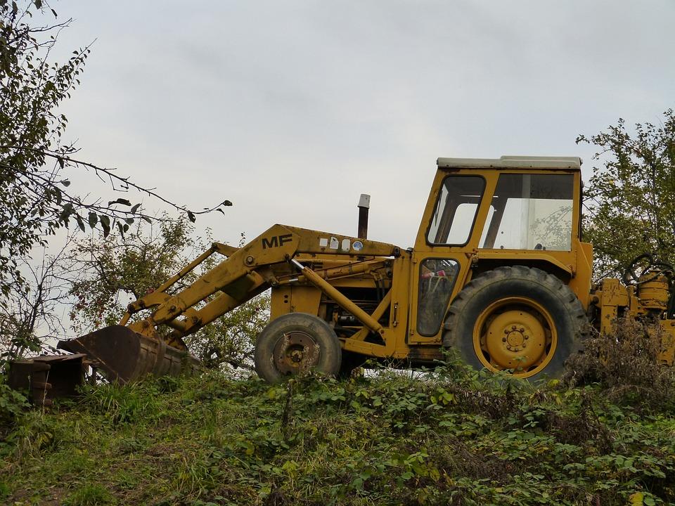 Vehicle, Excavators, Site, Wheel, Machine, Blade, Metal