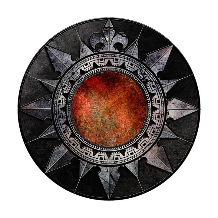 Gothic, Metal, Shield, Emblem, Symbol