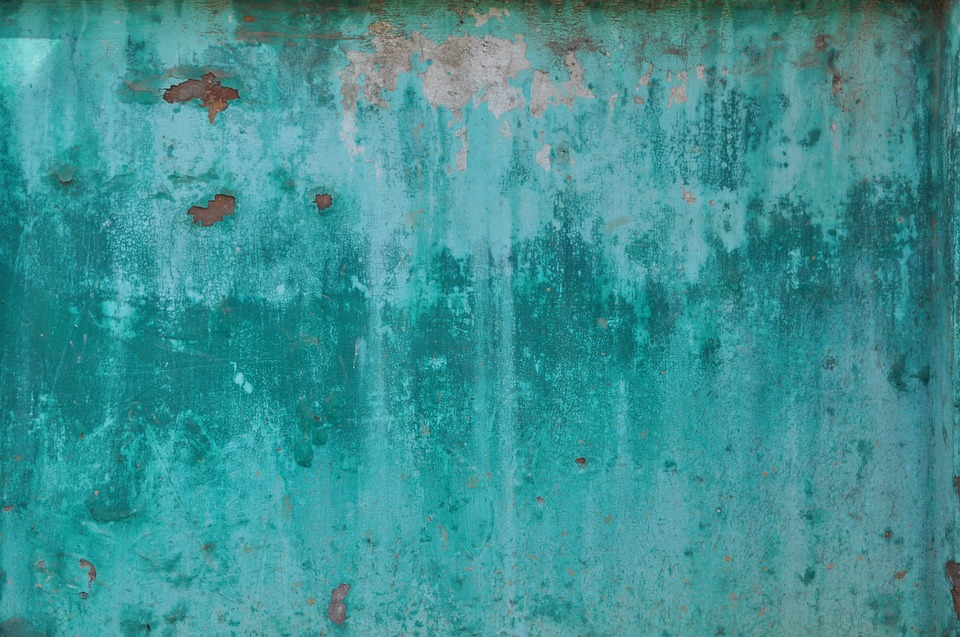 Turquoise, Sheet, Weathered, Corrosion, Metal, Rusted