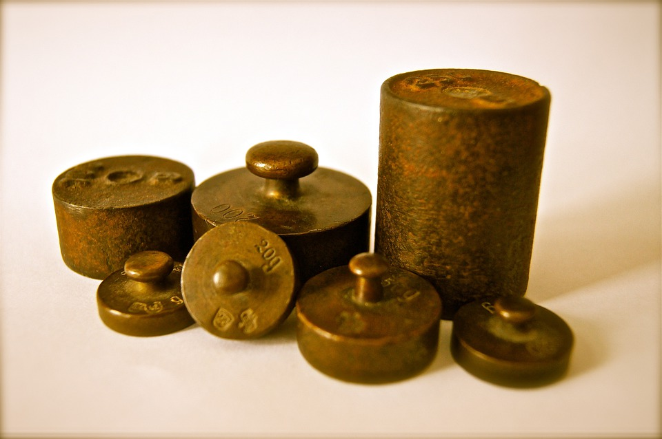 Weights, Iron, Kilo, Grams, Copper, Metal, Rust