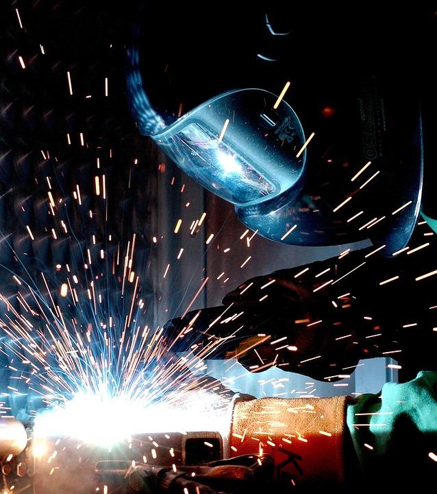 Welding, Welder, Work, Welding Sparks, Metal Work