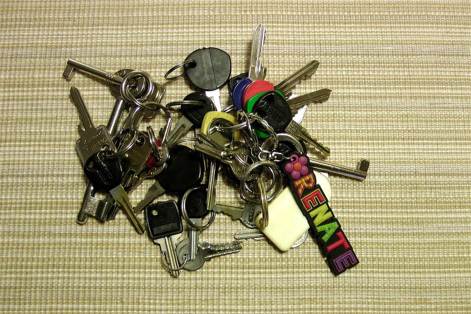 Key, Keychain, File, Metal, Shiny, Metallic