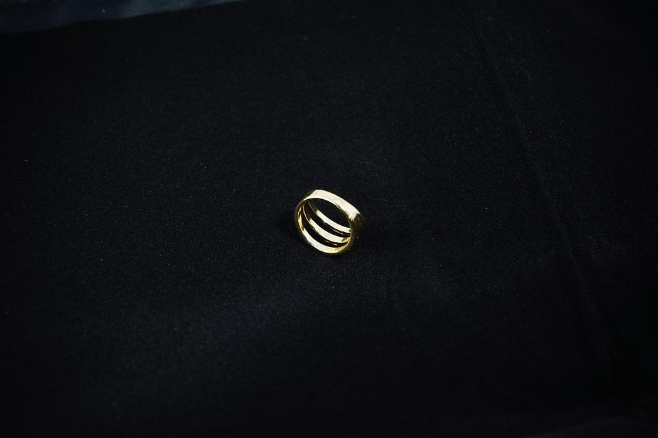 Ring, Finger Ring, Jewellery, Gold, Shiny, Metallic