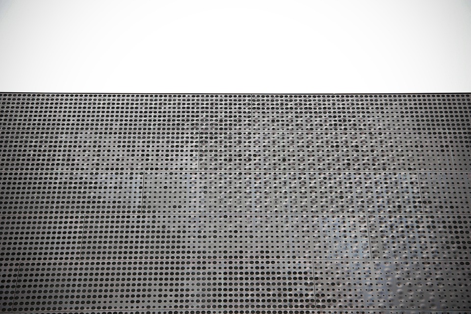 Metallic, Silver, Building, Wall, Metal, Texture