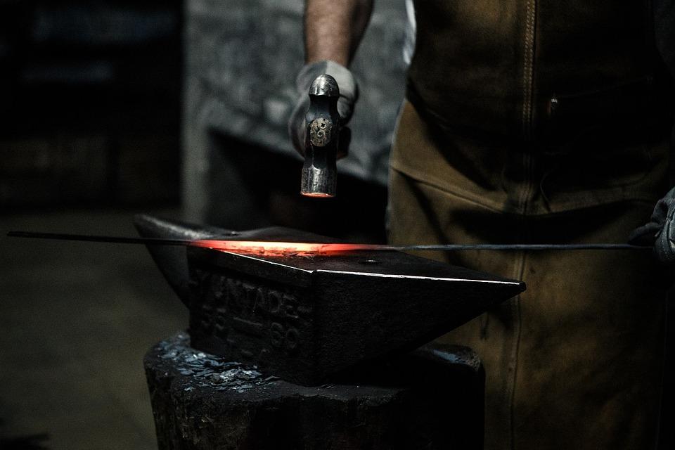 Grinder, Metalwork, Dark, Industry, People