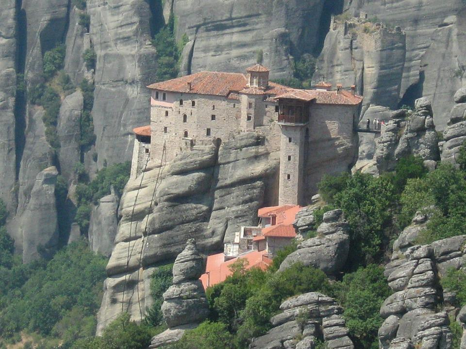 Meteora, Monastery, Greece, Rocks