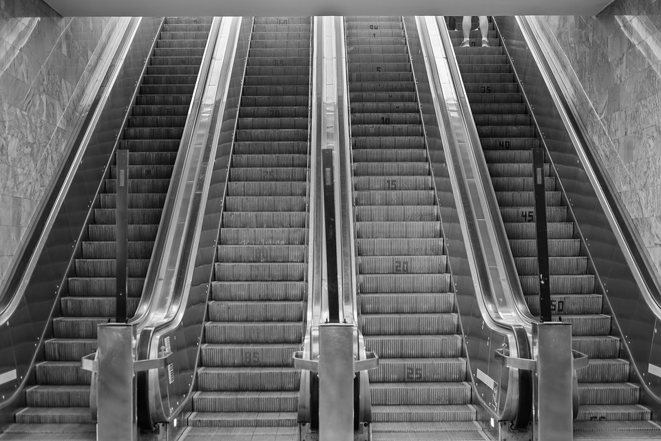 Escalator, Metro, City, Urban, Station, Underground