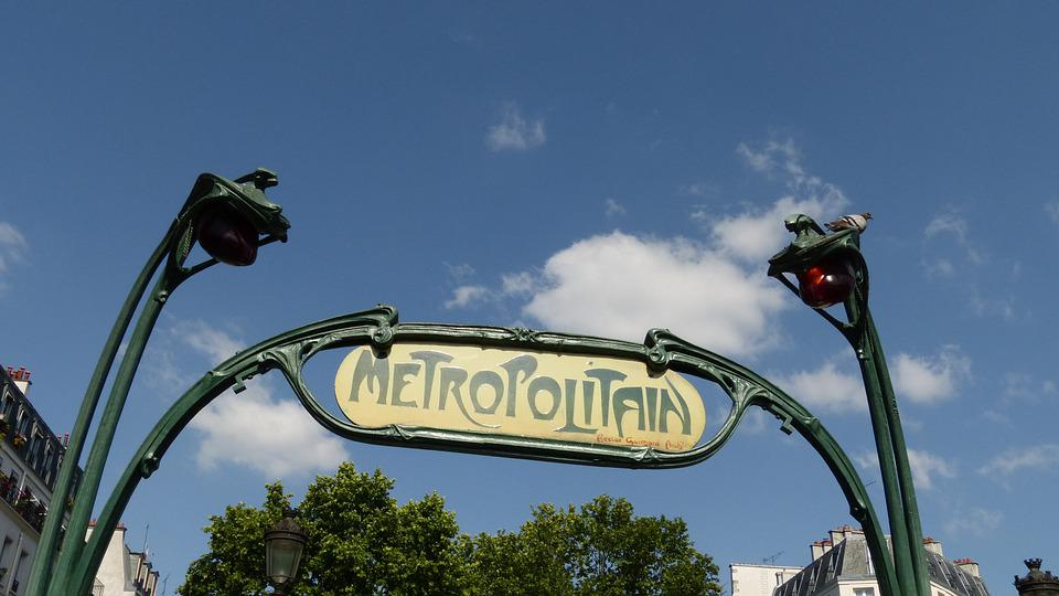 France, Paris, Metro, Metro Entrance, Shield