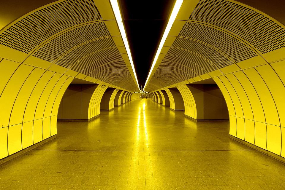 Metro, Tunnel, Architecture, Passage, Building