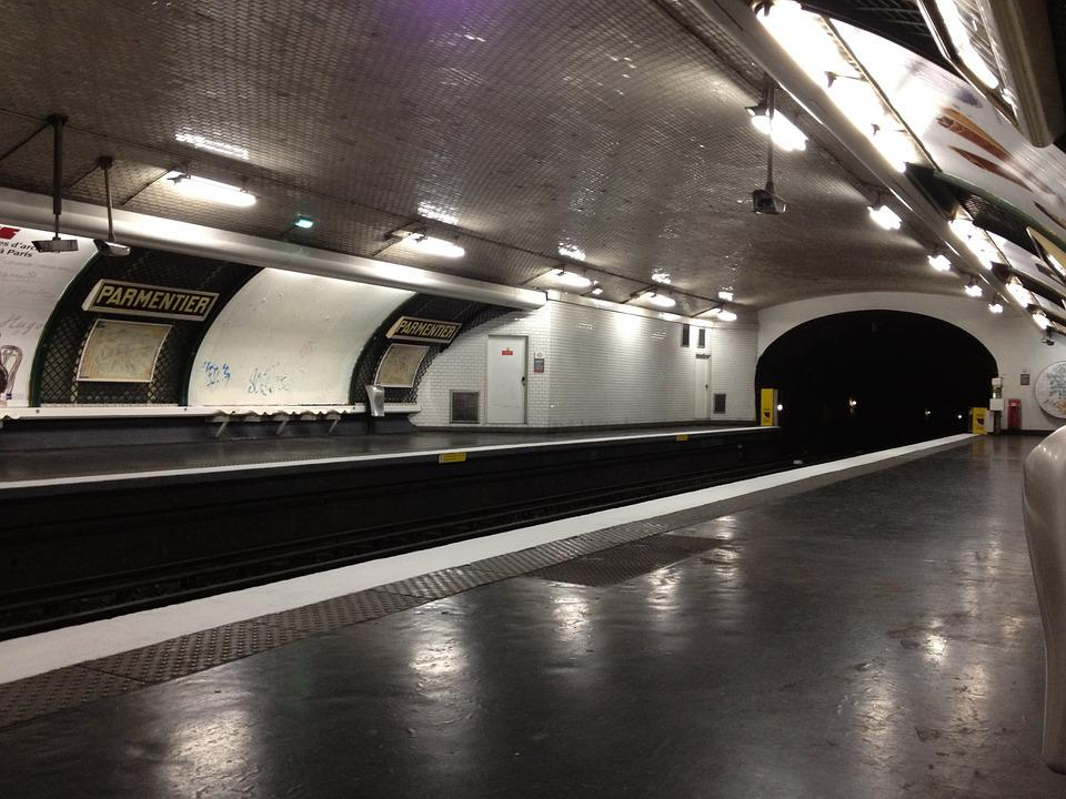 Metro, Paris, Station, Wharf, Parmentier
