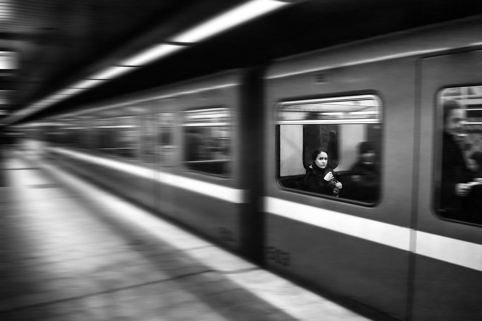 Train, Metro, Speed, Wagon, Movement, Passengers, Women