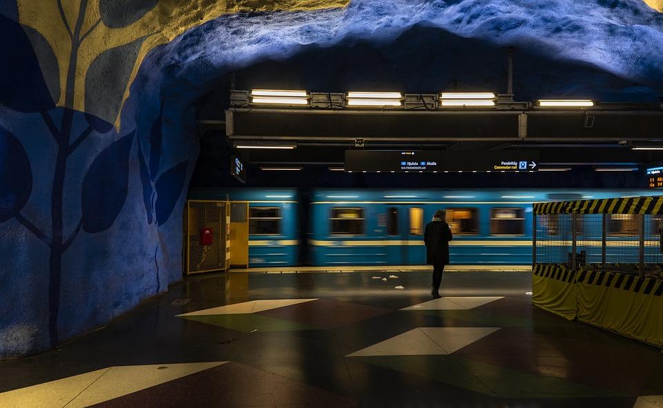Metro, Station, Subway, Train, Underground, Urban