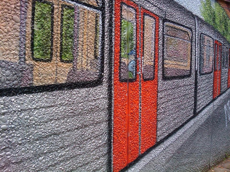Graffiti, Metro, Wagon, Railway, Wall, Painted, Art