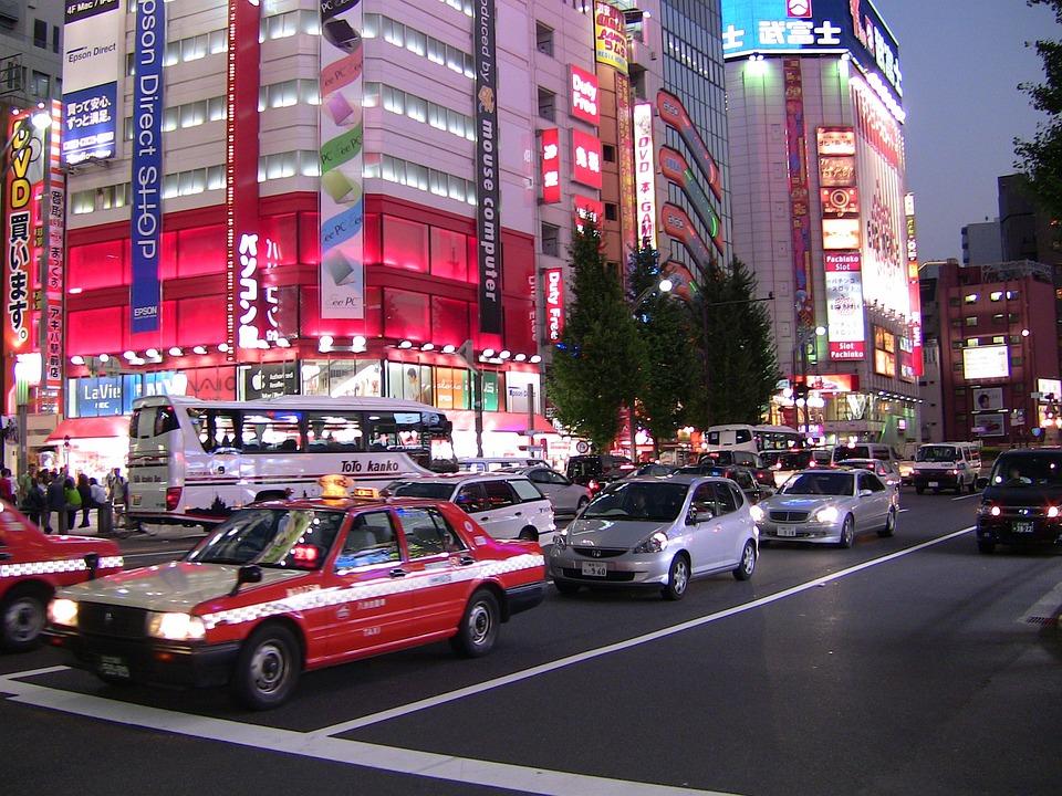 Tokyo, Japan, City, Traffic, Metropole