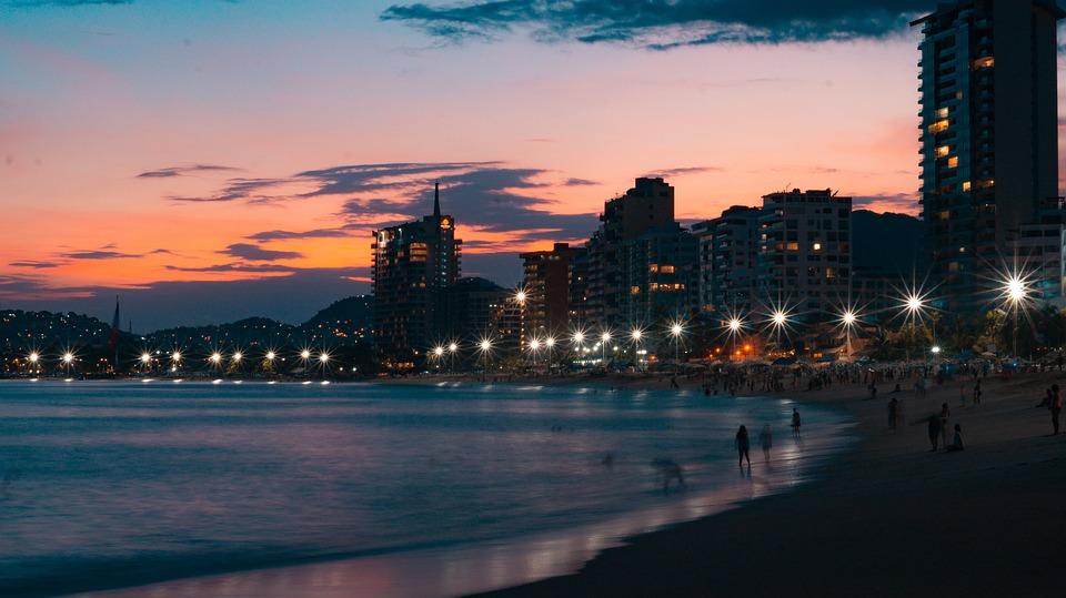 Acapulco, Sunset, Mexico, Sea, Sky, Paradise, Sunny