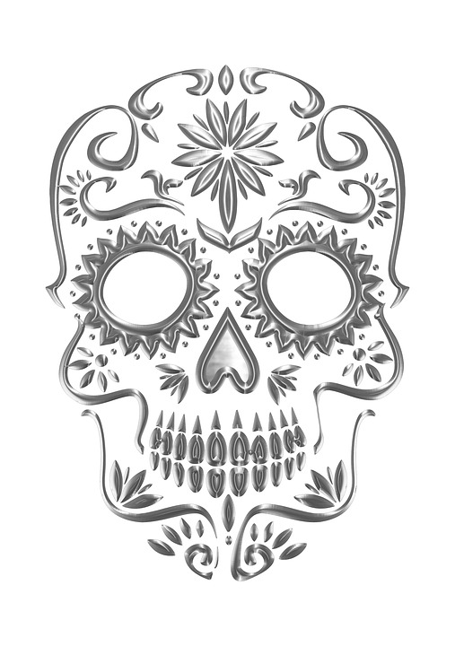 free photo mexico colorful sugar skull mexican skull max pixel