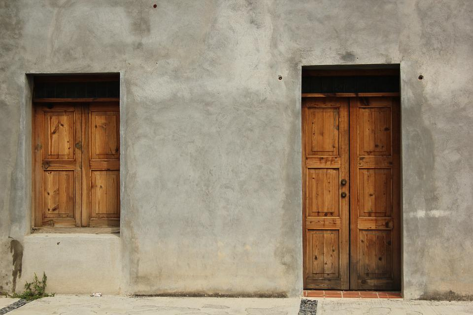 outside door. Door  Window Outside Building Home House Mexico Free photo Max Pixel