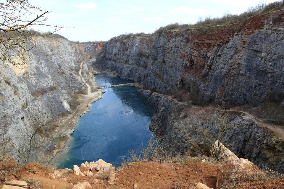 Quarry, Landscape, Lake, Rock, Mexico