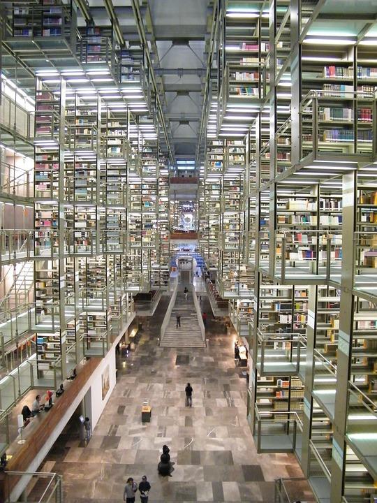 Library, Mexico, City, University, Unam, Acquis