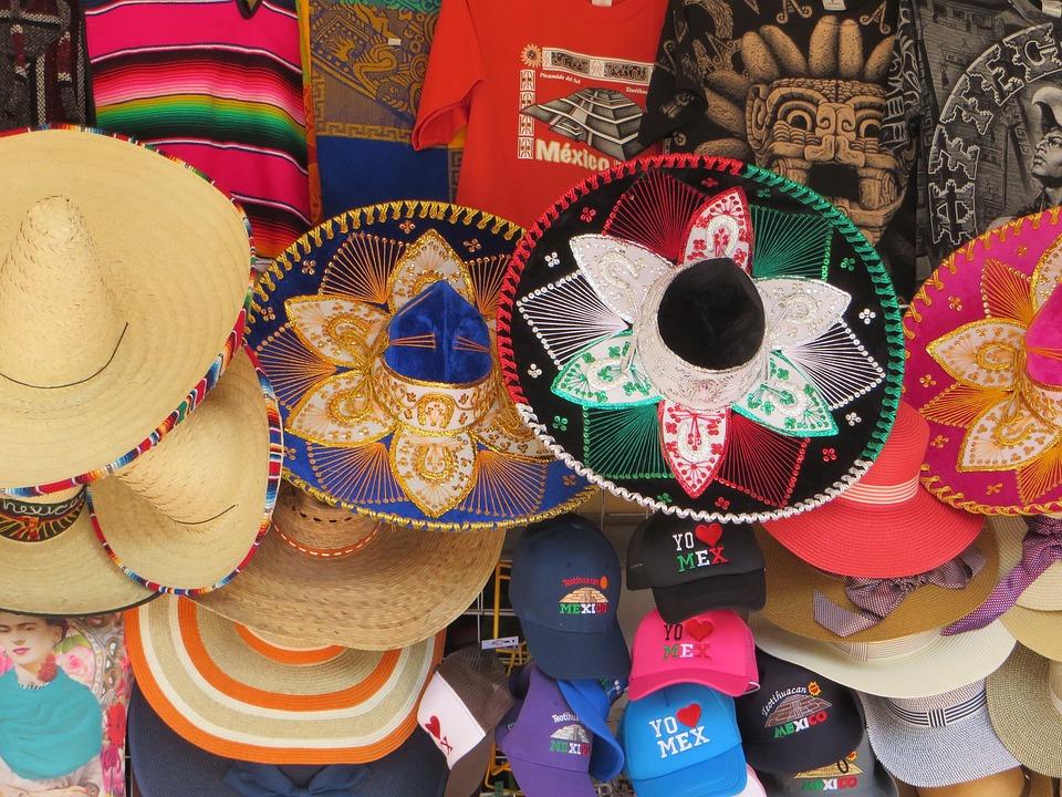 Mexico, Trade, Stalls, Sombrero, Crafts, Market