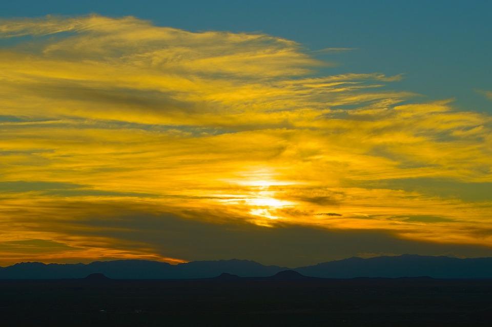 Oliver Lee Park Sunset, Sunset, New, Mexico, Twilight